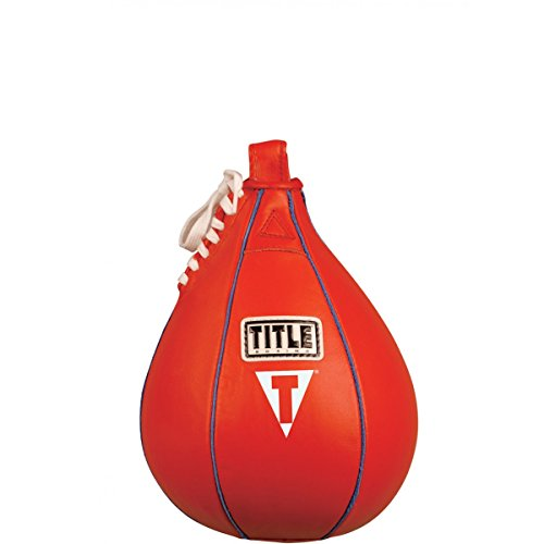 6 Inch Welted (TITLE Boxing Super Speed Bag, Red, 6