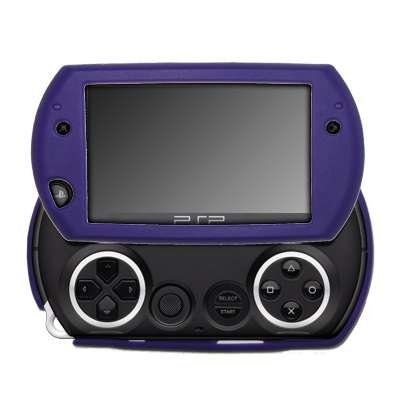 Premium Purple Silicone Gel Skin Soft Cover Case for Sony PSP Go [Accessory Export Packaging] (Zune Silicone Cover)