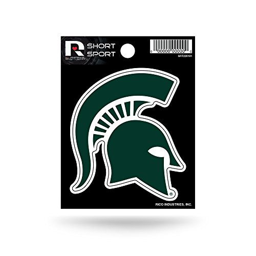 Michigan State Spartans Logo - Rico Industries NCAA Michigan State Spartans Die Cut Team Logo Short Sport Sticker