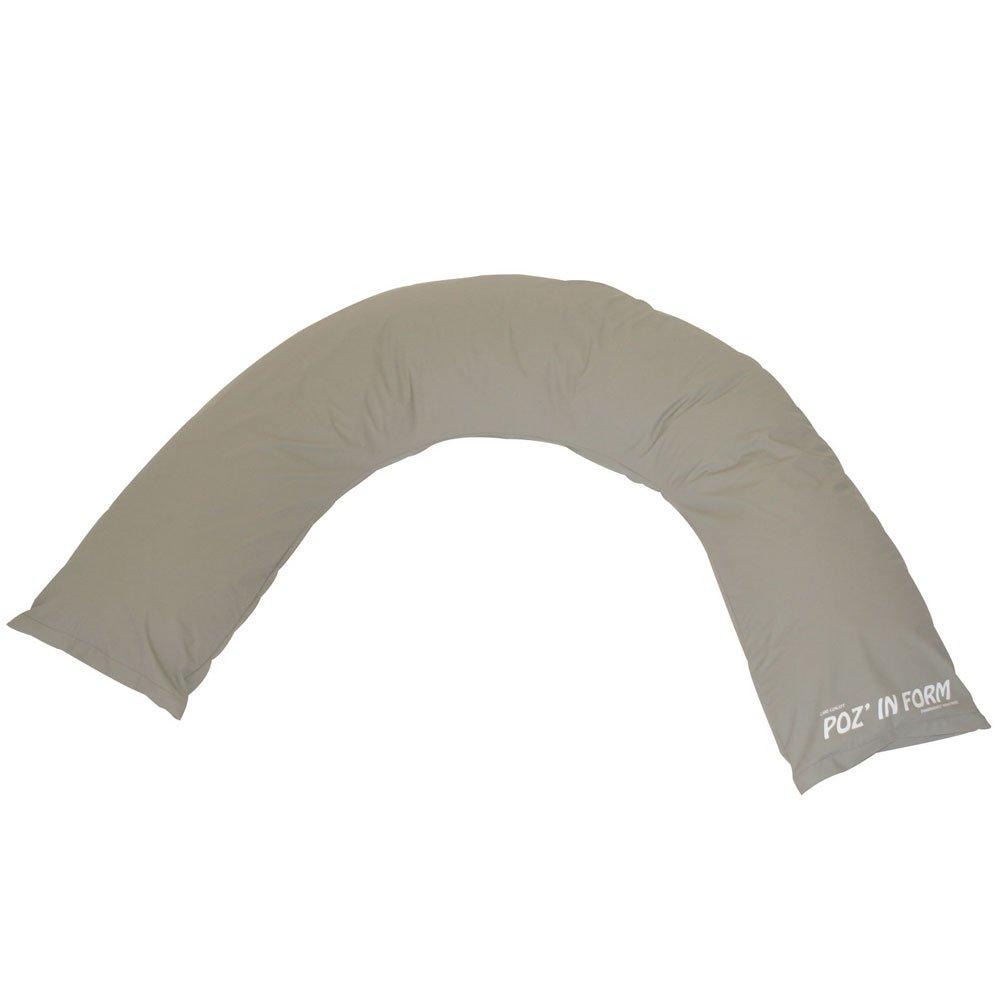 Poz' in' Form Semi-Fowler Halbmondkissen grau Lenzing