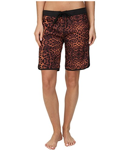 Hurley Supersuede Printed 9in Beachrider Board Short - Women's Total Orange Leopard, 5