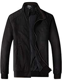 Mens Classic Cotton Casual Jacket,Men's Regular Fit Lightweight Full Zip Outerwear