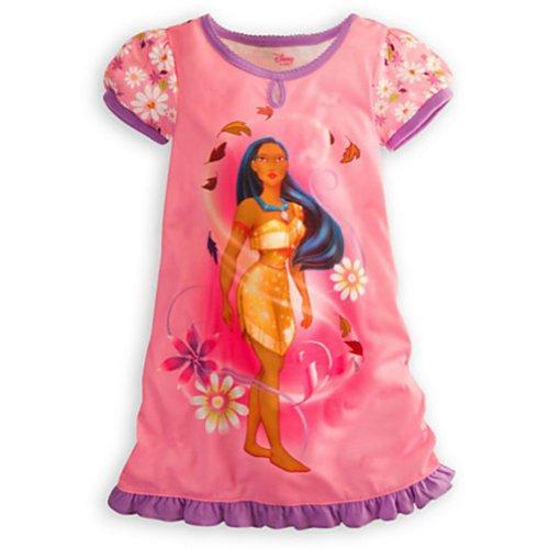 Disney Store Pocahontas Costume Nightshirt Pink (XXS 2-3 Extra Extra Small) (Pocahontas Dress Up)