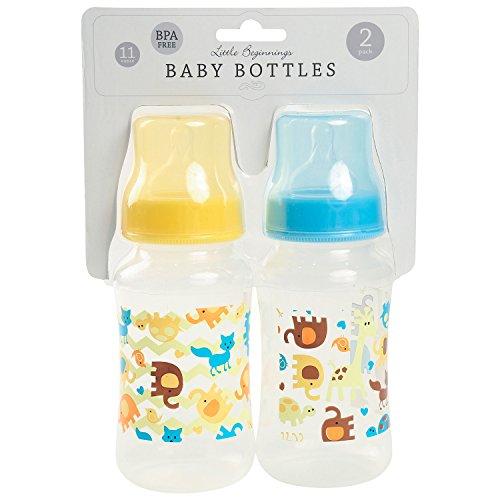Little Beginnings 2 Pack 11 Ounce Baby Bottles, Jungle Print