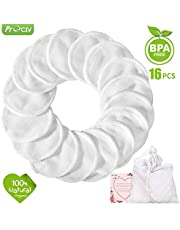 Makeup Remover Pads Reusable 16 Packs Bamboo Facial Toner Pads Cleansing Wipe Cloth Chemical Free With Laundry Bag, ProCIV Washable Clean Skin Care Round Pads Cleansing Towel Wipes