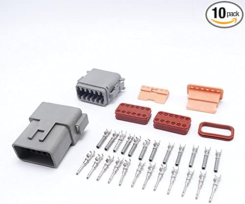 1 set DT06-12S//DT04-12P Conector Waterproof Electrical Connector For Car Moto/_BJ