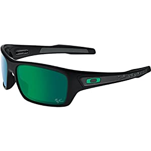 Oakley Men's Turbine OO9263-15 Rectangular Sunglasses, Matte Black, 65 mm