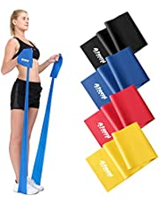 Resistance Band | 1.2 Metre or 2 Metre | Four Resistance Levels | Free Workout Guide | Exercise Band Ideal for Physiotherapy, Strength and Fitness Training (#3 Blue (Heavy), 1.2m)