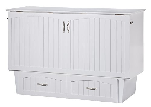 Atlantic Furniture Nantucket Murphy Bed Chest, Queen, White