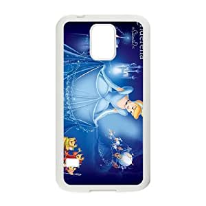 Samsung Galaxy S5 Cell Phone Case White Disney Cinderella Character Cinderella Clear Phone Case Covers Generic CZOIEQWMXN12758