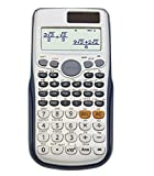 CalculatorSolar Energy Student Science Computer  Plastic Button  12 Digits  Large Screen Display  Dual Power Automatic Shut-Down (Silver 058)