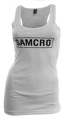 Sons of Anarchy SAMCRO Women's Licensed White Tank Top