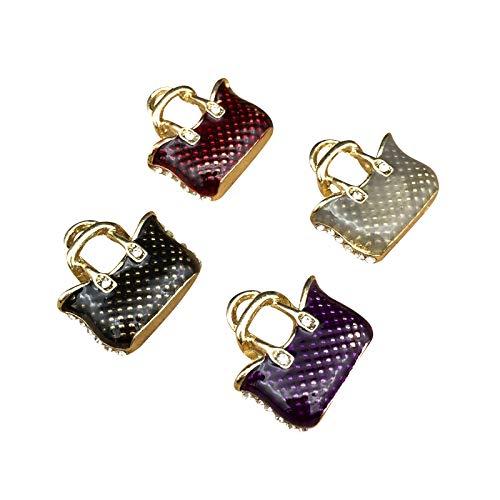 - SANQIU 16PCS Mixed Color Enamel Women Handbag Charm for Jewelry Making