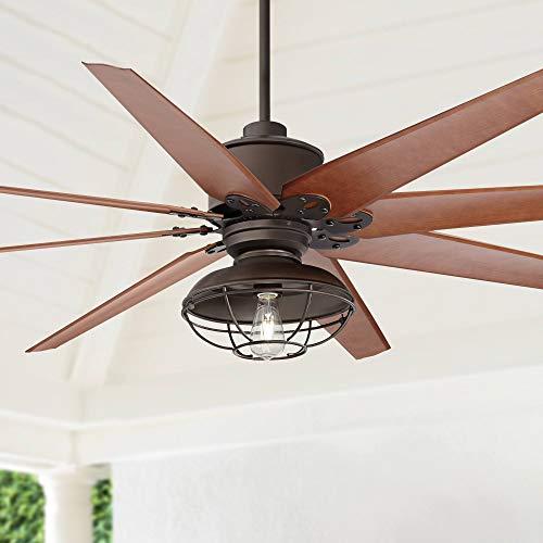 "72"" Predator Bronze Franklin Park LED Outdoor Ceiling Fan - Casa Vieja Lamps Plus"