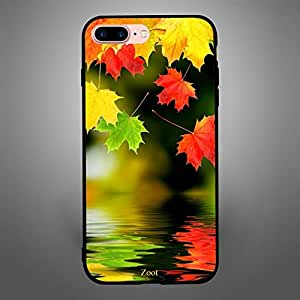 iPhone 7 Plus/ 8 Plus Case Cover Autumn Leaves, Zoot Printed Hard Back Cover TPU Trendy Modern Design Print with Quality Paint Color Pattern Long Lasting