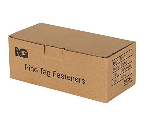 "PAG 2"" Fine Tagging Gun Fasteners Tag Barbs Attachments for Use with Fine Retail Price Gun, 10000pcs 100pcs/clip, Clear"