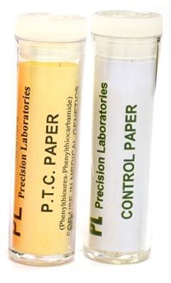 Phenylthiourea (PTC) Paper Experiment Kit - PTC and Control - Genetic Taste Testing (Vials of 100) from EISCO