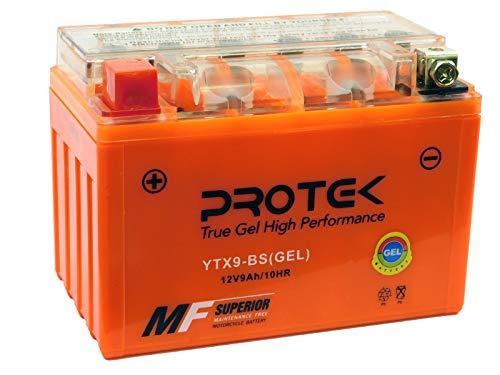 Protek YTX9-BS YTX9 12V 9Ah Sealed AGM Gel Type Battery Maintenance Free For 1998-2006 Suzuki Katana 600 750 GSX750F GSX600F, 1996-1999 Suzuki GSXR750, 1997-2016 Suzuki GSXR600, 1996-2003 Bandit 600 ()