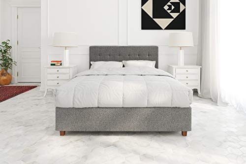 DHP Poppy Tufted Upholstered Platform Bed Frame