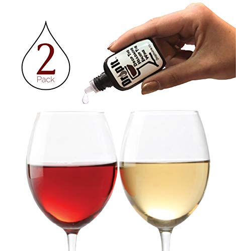 Drop It Wine Drops, 2 Pack - Natural Wine Sulfite Remover and Wine Tannin Remover - Enjoy Wine Again, Works in Just 20 Seconds - Portable and Discrete - A Wine Filter or Wand Alternative