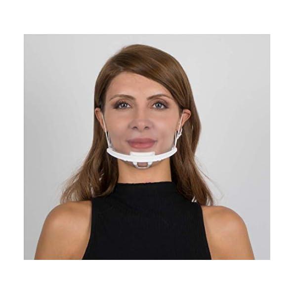 mMayda-Visier-Mundschutz-Gesichtsschutz-Face-Shield-5-stck-Plastik-Gesichtsschild-fr-Restaurant-Hotel-Kellner-Chefkoch-Schnheitssalons-Durchsichtige-Gesichtsvisier-5X-Halter10-Visiere