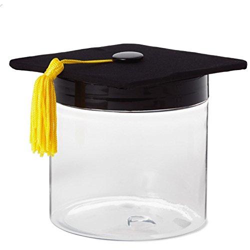 Novel Box Flocked Velvet Graduation Cap Novelty Jewelry Ring Earring