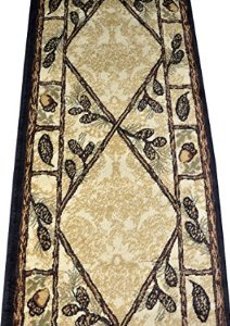 Dean Brasstown Bald Lodge Cabin Ranch Pine Cone Area Rug 2'3″ x 7'7″ Review