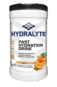 Hydralyte Electrolyte Powder Sports Drink Mix Jar, 80 Servings Per Container (250ml), Natural Electrolyte Replacement Supplement for Rapid Hydration & Energy - Orange Flavour 800 GMS