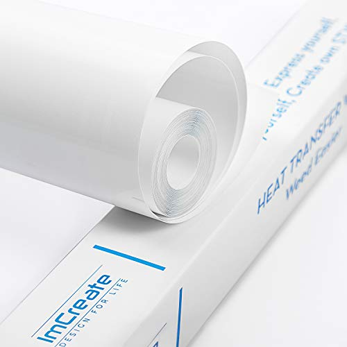 Heat Transfer Vinyl HTV: 10feet x 12inches, Easy to Weed HTV-Iron-on-Vinyl-Roll-White