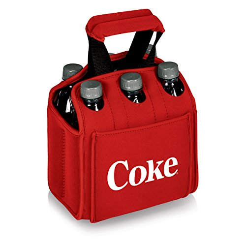 Picnic Time Coca-Cola Six Pack Insulated Beverage Carrier, Red-Coke Design