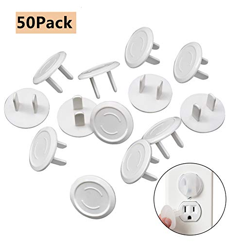 Plug Outlet Covers 50 Pack Baby Proof Plug Outlet Covers White Electrical Protector Safety Caps
