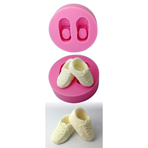FOUR-C Silicone Cup Cake Mold Shoes Fondant Mould Color Pink