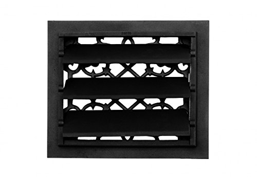 Register Black Aluminum Heat Register Cast Aluminum W/Logo RSF Black by Renovator's Supply (Image #4)