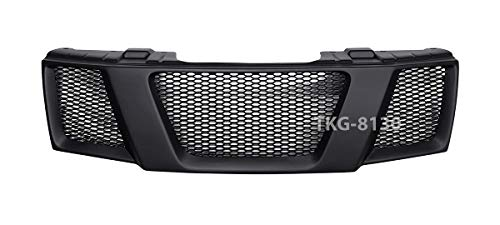K1AutoParts Front Grille Grill Black Color For Nissan Frontier Navara D40 2005-2013 V.2 (US and EU Model 2005-2009)