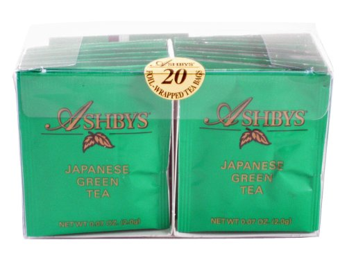 Ashbys Japanese Green Tea Bags, 20 Count (Cybercucina Blended Tea)