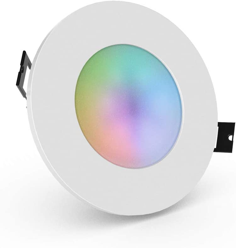 Dimmable Froid Chaud Blanc 6W RGB Multicolore 3x iHomma Encastr/é IP65 LED Downlights Plafonnier 350LM fonction de minuterie 3Pack Contr/ôle dAPP par Wi-Fi 110~240V