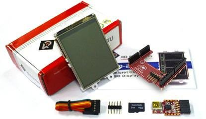 "Display Modules 2.4"" Ardunio Str Kit w/2GB SD & Prg Adptr"