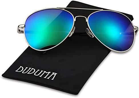 Duduma Fashion Aviator Sunglasses with Flat Lens Metal Frame for Women and Men 0713
