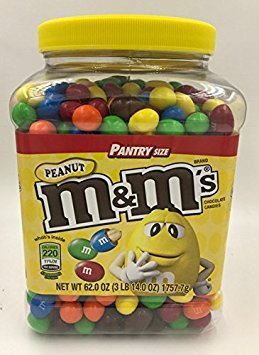 M&M's Peanut Candies 3Lb 14oz Jar