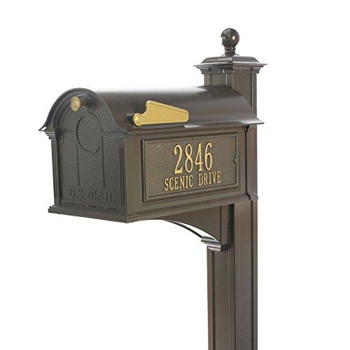 Balmoral Mailbox - Bronze (Mailbox Package, Bronze) - Monogram Mailbox Post