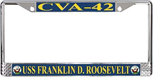 MilitaryBest USS Franklin D. Roosevelt CVA-42 License Plate Frame (Franklin Frames)
