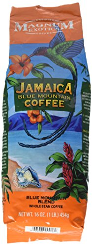 - Jamaican Blue Mountain Coffee Blend, Whole Bean - Medium Roast, Fresh Strong Arabica Coffee - Rich And Smooth Flavor - Magnum Exotics, 1 Lb Bag