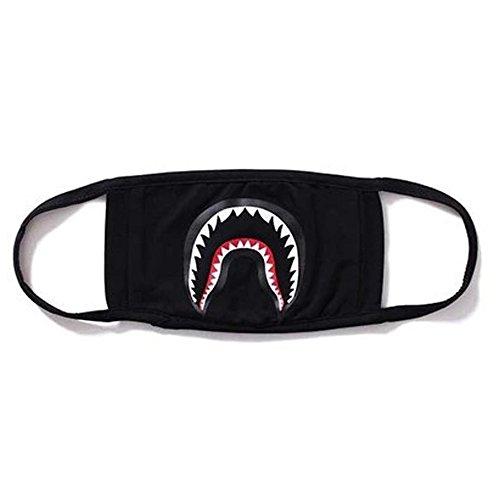 Camping First Aid Kits Bape Black Black Shark Face Mask 1 Pa