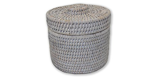Artifacts Trading Company Rattan Round Single Tissue Roll Box, 6