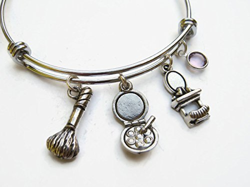 f24c226047a4c Personalized Cosmetician Bracelet, Expandable Bangle Bracelet, Stainless  Steel Bracelet, Makeup Artist Jewelry