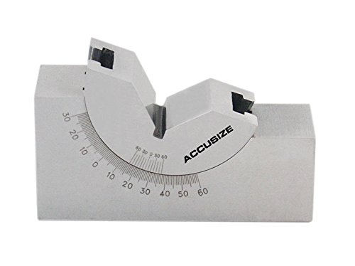AccusizeTools - 0deg~60deg. Precision Angle Blocks 1'' x 1-1/4'' x 3'', EG02-0092 by Accusize Industrial Tools