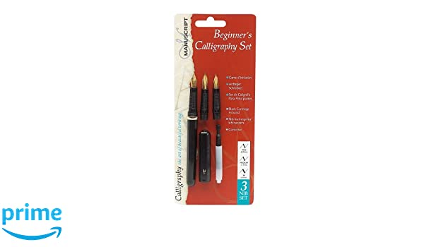 right handed Manuscript 3 Nib Beginners Calligraphy Set 3 nib calligraphy set