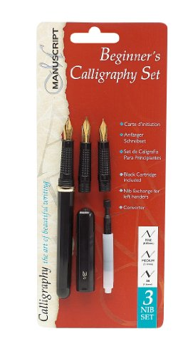 Manuscript 3 Nib Beginners Calligraphy Set 3 Nib Calligraphy Set - Left Handed