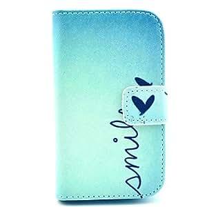 GX Teléfono Móvil Samsung - Carcasas de Cuerpo Completo - Gráfico/Diseño Especial - para Samsung Galaxy Fame ( Multi-color , Cuero PU )