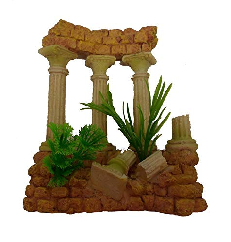 Greek Roman Stone Wall Marble Column Ruins FantaSea AR032